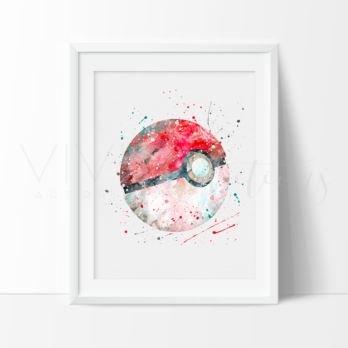 Pokemon Wall Decor pokemon go pokeball watercolor art print wall decor - vivideditions