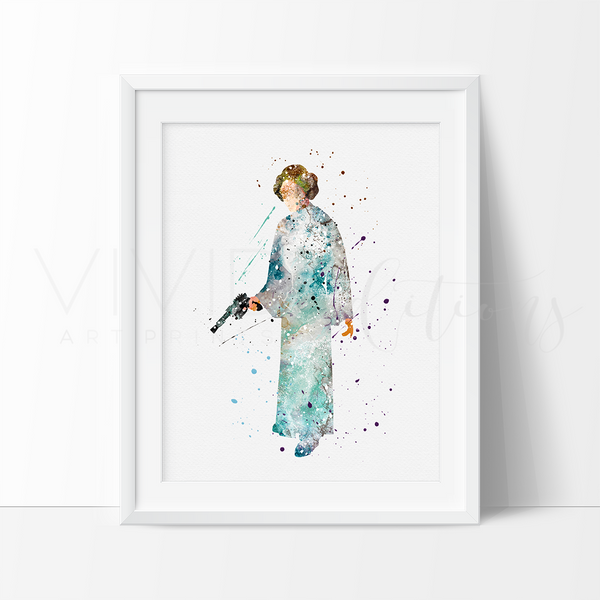 Princess Laia Star Wars Girls Nursery Art Print Wall Decor
