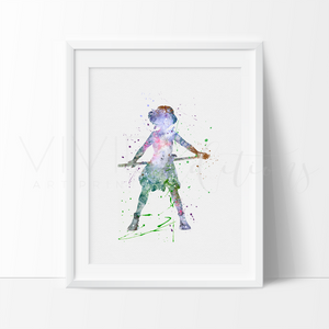 Princess Mononoke Watercolor Art Print Art Print - VIVIDEDITIONS