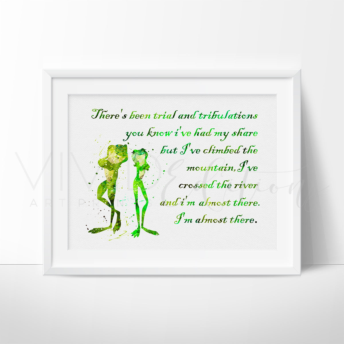 Disney Tiana Princess and the Frog Nursery Art Quote Print ...
