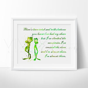 Princess and the Frog Quote Art Print - VIVIDEDITIONS