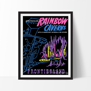 Rainbow Caverns, Disneyland Poster Art Print - VIVIDEDITIONS