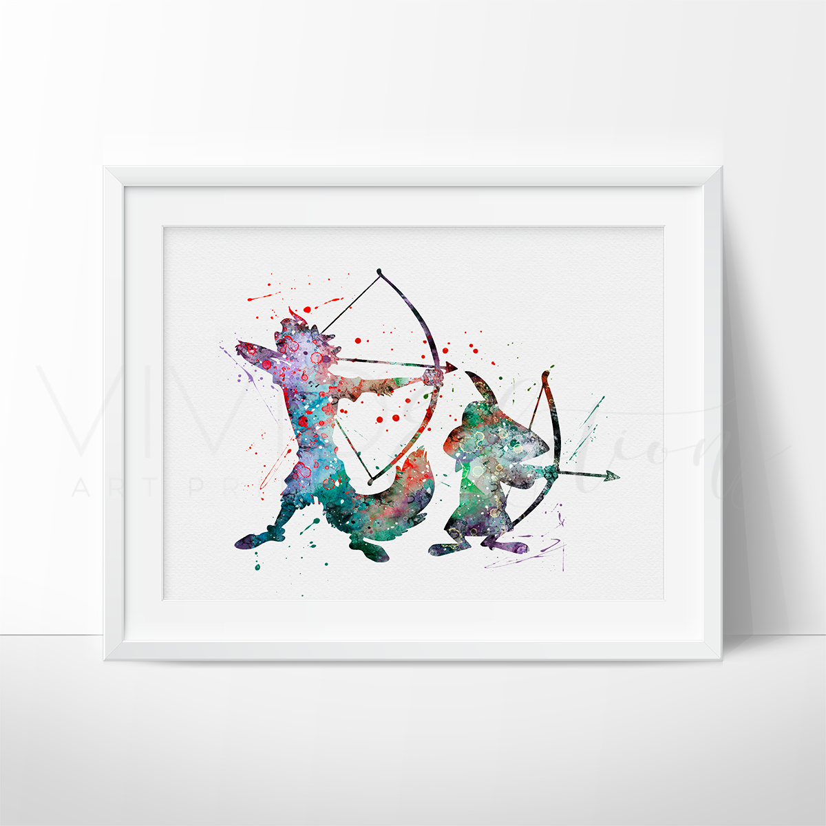 Robin Hood Watercolor Art Print Art Print - VIVIDEDITIONS