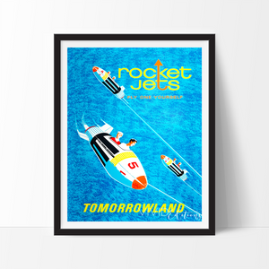 Rocket Jets, Disneyland Poster Art Print - VIVIDEDITIONS