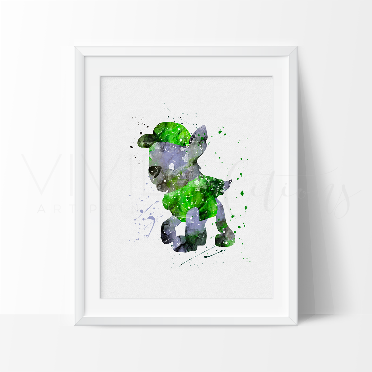Rocky, Paw Patrol Watercolor Art Print Art Print - VIVIDEDITIONS