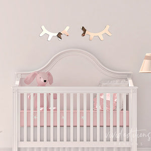unicorn lashes sleepy eyes nursery