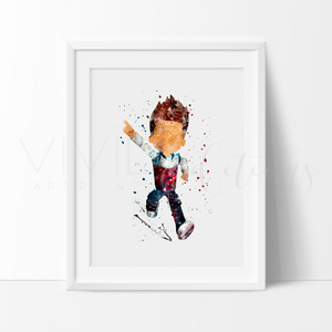 Ryder, Paw Patrol Watercolor Art Print Art Print - VIVIDEDITIONS