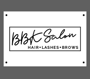 Custom Business Signage for BBK Salon
