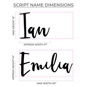 "30"" Black Acrylic Large Personalized Name Sign Art Print - VIVIDEDITIONS"