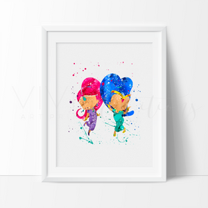 Shimmer and Shine Watercolor Art Print