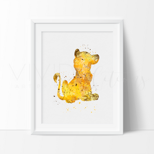 Simba Lion King Nursery Art Print Wall Decor