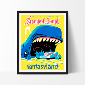 Storybook Land, Disneyland Poster Art Print - VIVIDEDITIONS