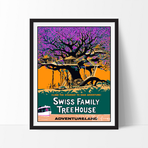 Swiss Family Treehouse, Disneyland Poster