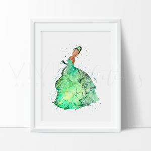 Princess Tiana Nursery Art Print Wall Decor