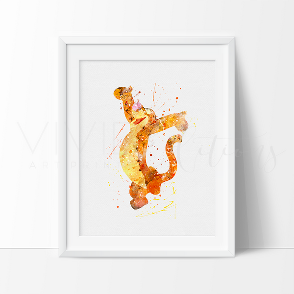 Winnie The Pooh Tigger Nursery Art Print Wall Decor
