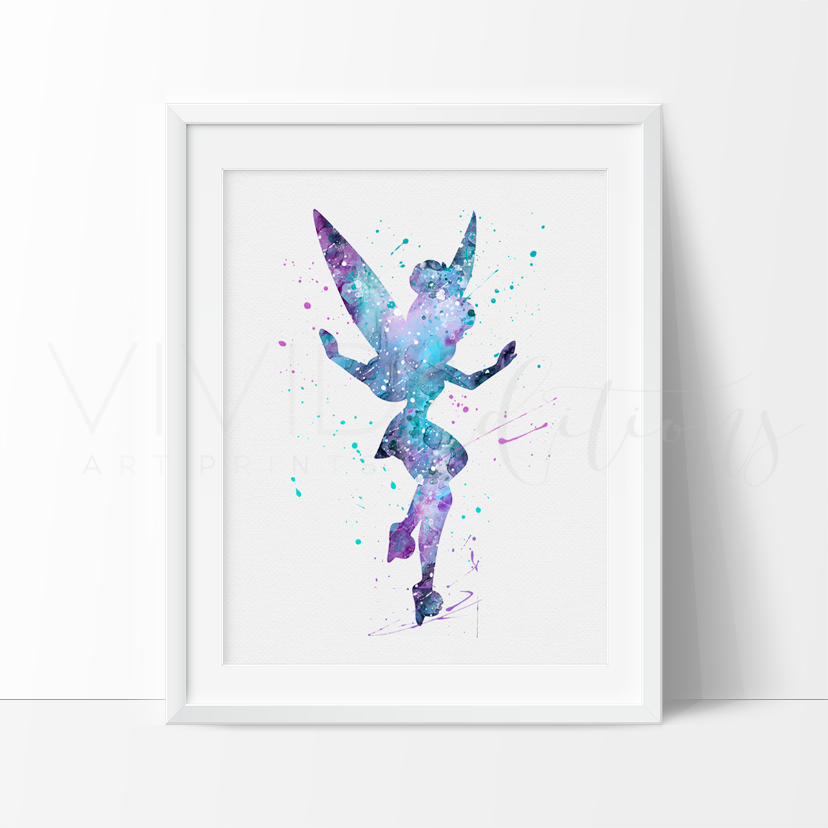 Tinkerbell 5 Watercolor Art Print Art Print - VIVIDEDITIONS