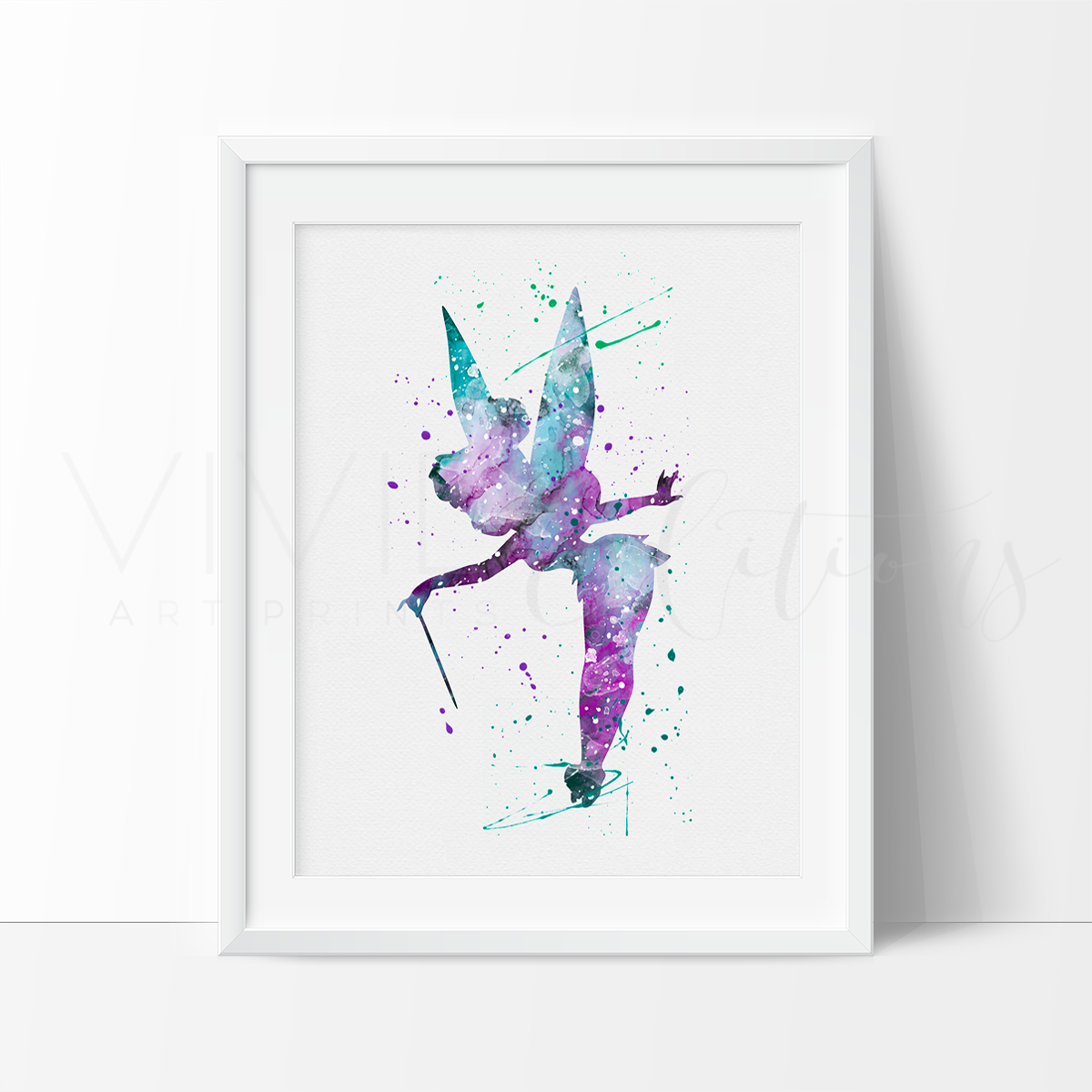 Tinkerbell 4 Watercolor Art Print Art Print - VIVIDEDITIONS