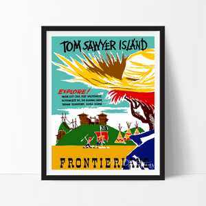 Tom Sawyer Island, Disneyland Poster Art Print - VIVIDEDITIONS