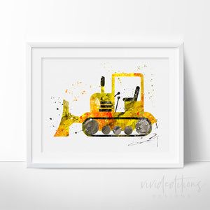Construction Tractor Truck Art Print Art Print - VIVIDEDITIONS