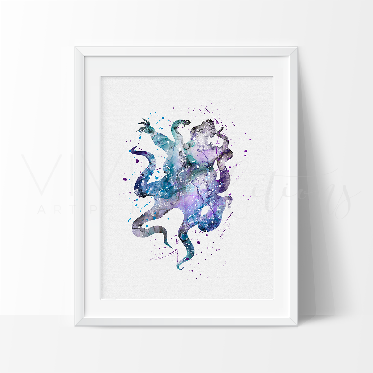 Ursula, Little Mermaid Watercolor Art Print Art Print - VIVIDEDITIONS