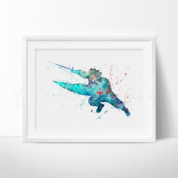 Wasabi Watercolor Art Print Art Print - VIVIDEDITIONS