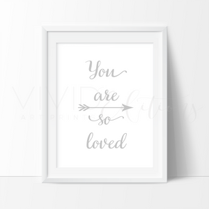 You are so loved, Silver Art Print - VIVIDEDITIONS