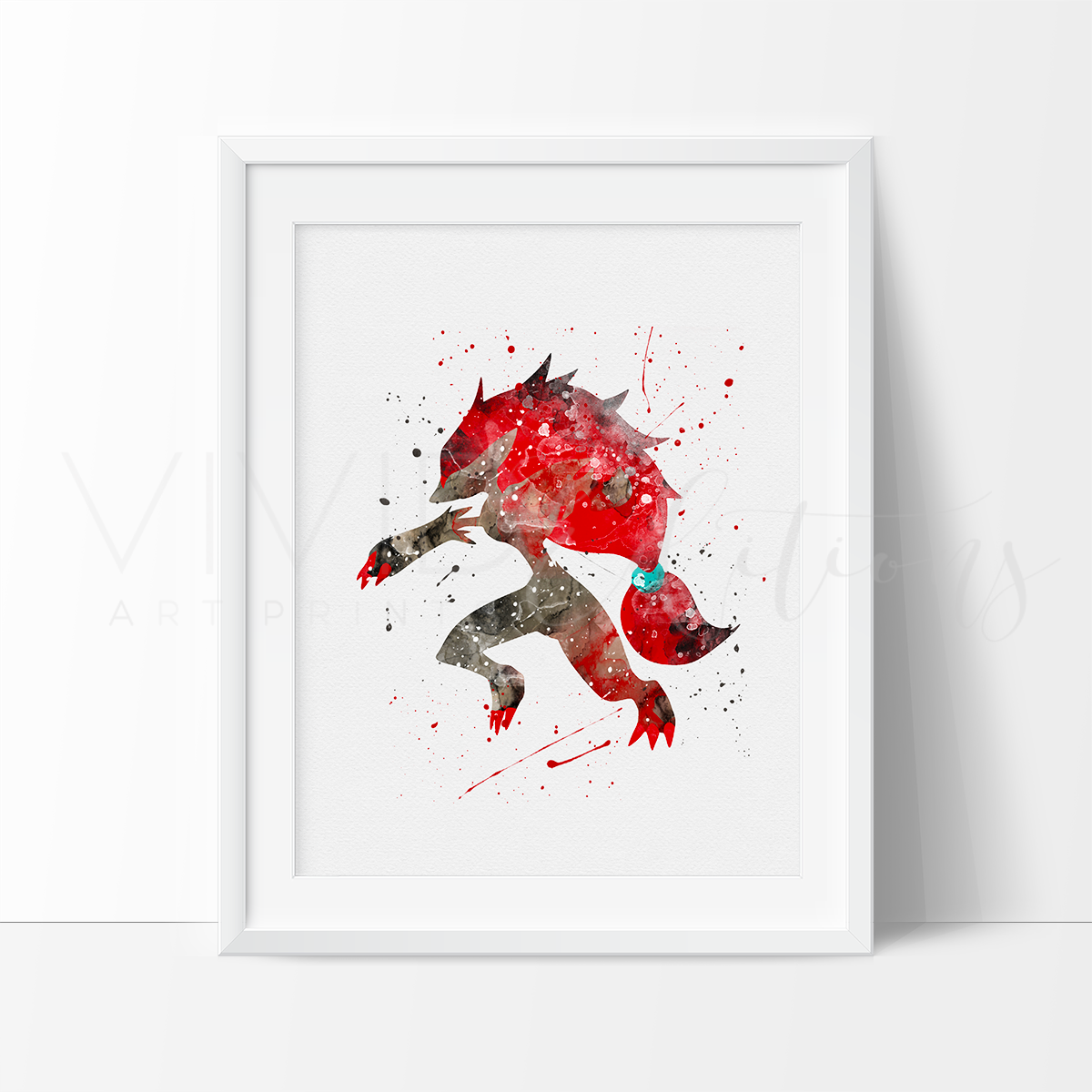 Zoroark, Pokemon Evolution Watercolor Art Print Art Print - VIVIDEDITIONS