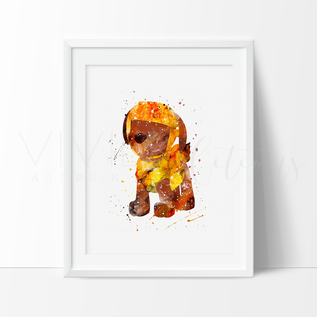 Zuma, Paw Patrol Watercolor Art Print Art Print - VIVIDEDITIONS