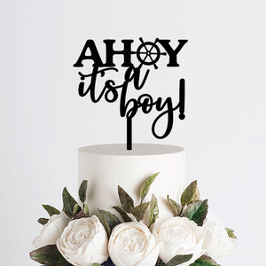 Ahoy It's a Boy Cake Topper Art Print - VIVIDEDITIONS