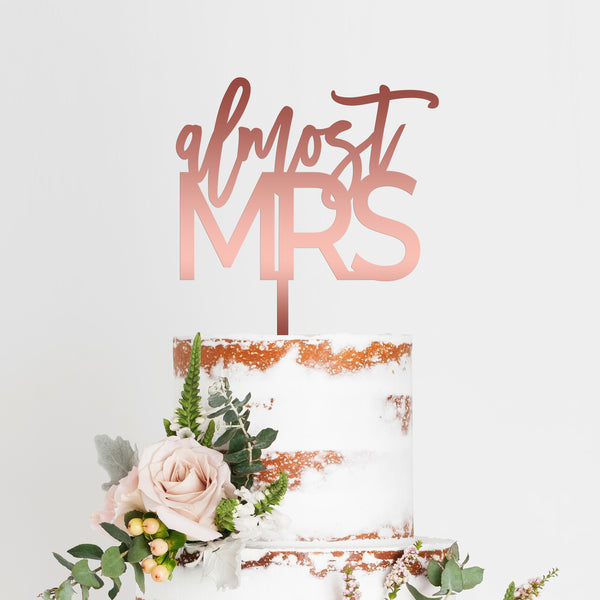 Almost Mrs Bridal Shower Cake Topper Art Print - VIVIDEDITIONS