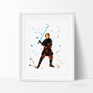 Anakin Star Wars Watercolor Art Print Art Print - VIVIDEDITIONS