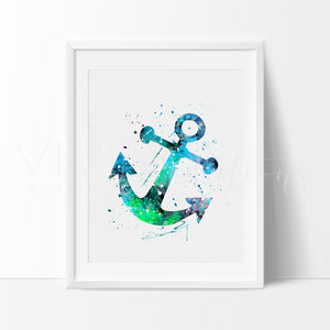 Boat Anchor Art Print - VIVIDEDITIONS