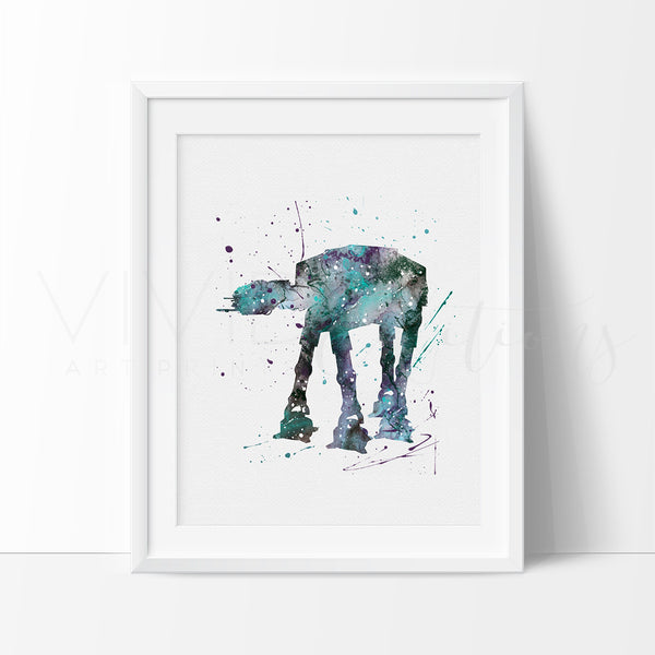 AT-AT Walker Watercolor Art Print Art Print - VIVIDEDITIONS