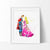 Princess Aurora & Prince Phillip 3 Watercolor Art Print Art Print - VIVIDEDITIONS