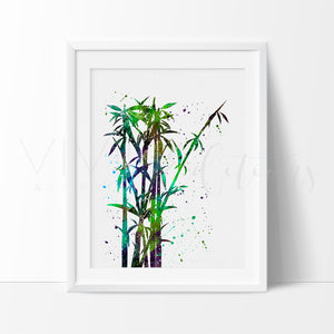Bamboo Tree Art Print - VIVIDEDITIONS
