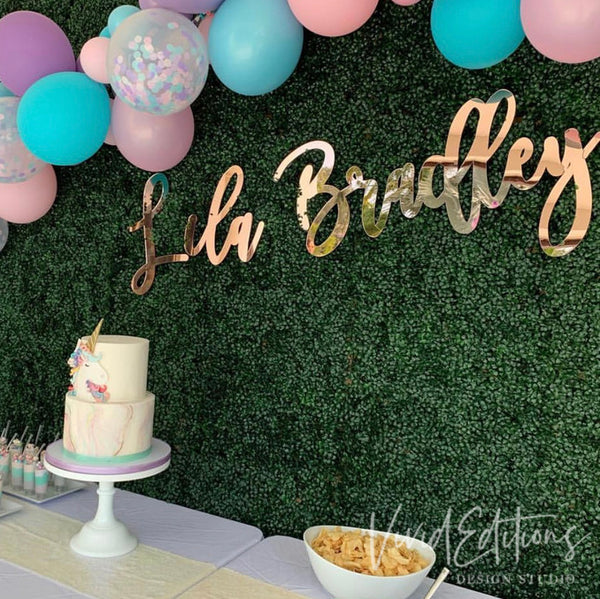 Fine Personalized Sign Backdrop Decor Gold Monogram Wall Art Wooden Funny Birthday Cards Online Aboleapandamsfinfo