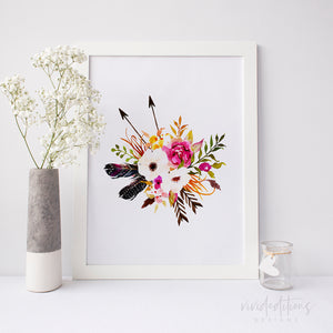 Boho Floral Posy 8 Art Print - VIVIDEDITIONS