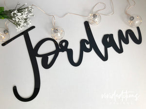 "18"" Silver Mirror Small Personalized Name Sign Art Print - VIVIDEDITIONS"