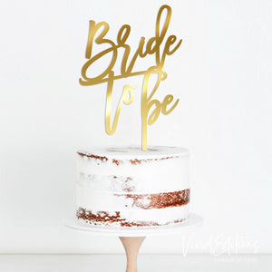 Bride To Be Engagement Cake Topper Art Print - VIVIDEDITIONS