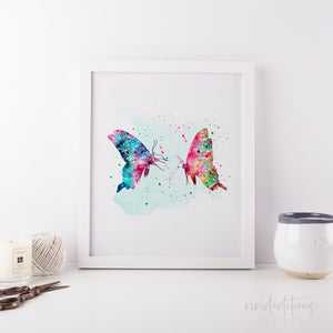 Butterflies Art Print - VIVIDEDITIONS