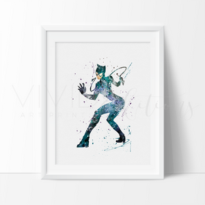 Catwoman Art Print - VIVIDEDITIONS