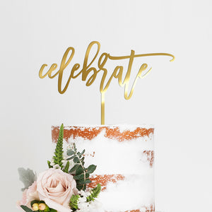 Celebrate Cake Topper Art Print - VIVIDEDITIONS