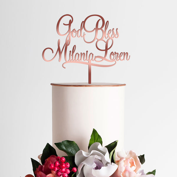 Christening Cake Topper - Personalized with Name - Baptism - Confirmation