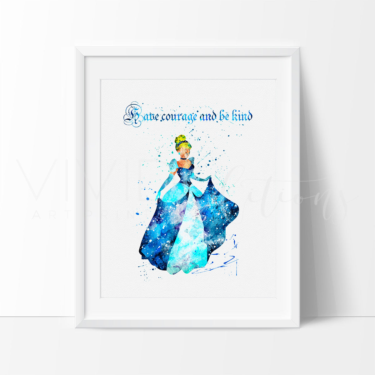 Cinderella 2 Watercolor Art Print Art Print - VIVIDEDITIONS