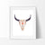 Tribal Cow Skull 2 Art Print - VIVIDEDITIONS