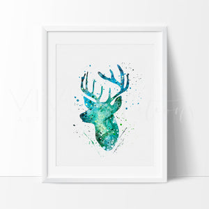 Deer Stag Head 2 Art Print - VIVIDEDITIONS