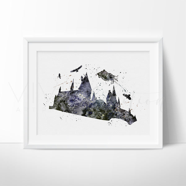 Dementor 3, Harry Potter Watercolor Art Print Art Print - VIVIDEDITIONS