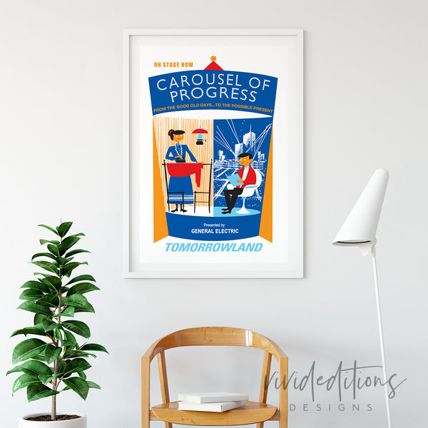 Carousel of Progress 1, Disneyland Poster Art Print - VIVIDEDITIONS