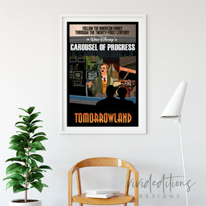 Carousel of Progress 2, Disneyland Poster Art Print - VIVIDEDITIONS