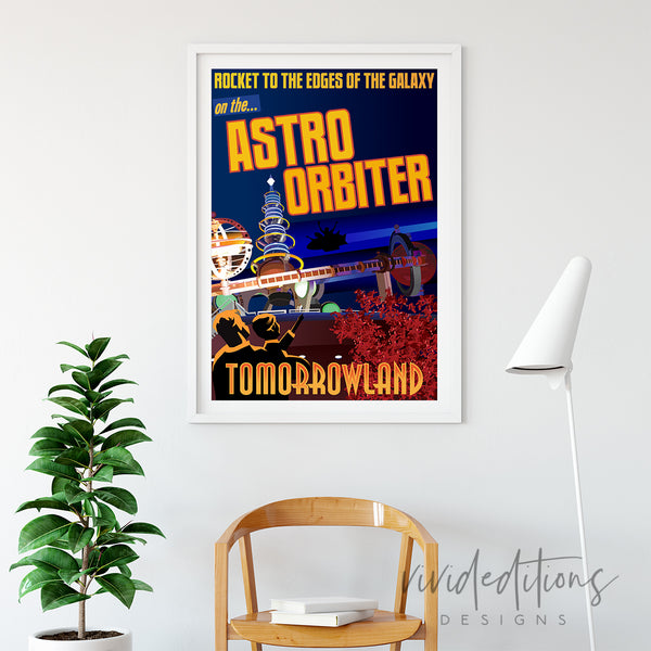 Astro Orbiter, Disneyland Poster Art Print - VIVIDEDITIONS